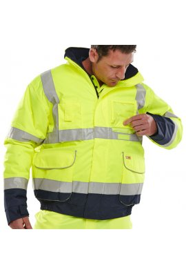 Click BD208 Hi Visibility Tone Breathable Bomber Jacket (Small To 6XL)