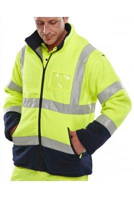 Click BD231 Hi-Visibility Two Tone Fleece (Detachable Sleeves) (Medium To 4XL)