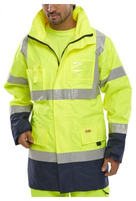 Click BD109 Hi Visibility  Weather Proof Two Tone Breathable Traffic Jacket (Small To 6XL)