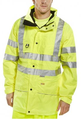 Beeswift CARO Click B Seen Carnoustie Breathable Traffic  Jacket (Small To 5XL)