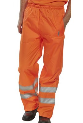 Beeswift BIT Click Hi Visibility  B-Dri Birkdale Breathable Overtrousers (Small To 3XL)