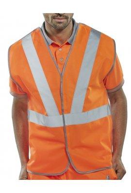 Click RSV02 Hi Vis Vests Anti Tangle Rail Spec (Medium To 5XL)