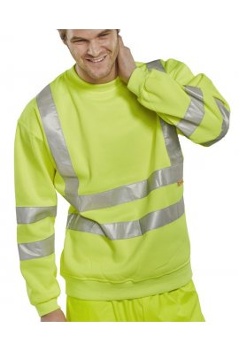 Beeswift BSSEN Click Hi-Visibility Sweatshirt (Small To 6XL)