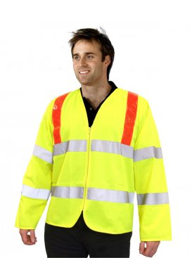 Click PKJENGRT Reflexite Hi Vis Long Sleeved Vests (Medium To 2XL)