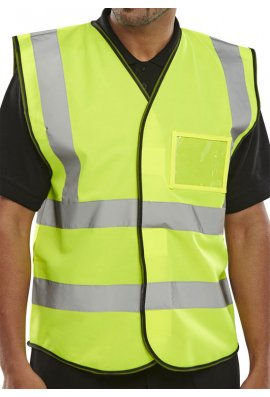 Click BD108 Id Pouch Hi Vis Vests (Medium To 4XL)