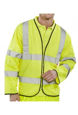 Click CFRPK Flame Retardent Zipped Hi Vis Long Sleeved Vests (Medium To 7XL)