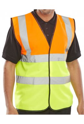 Click EN471 Class 2 Two Tone Vests Orange/Yellow (3XL)