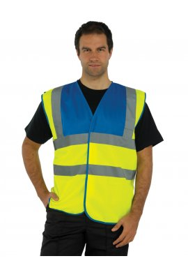 Yoko HVW102 Hi Vis Two Tone Vests (Medium To 3XL)
