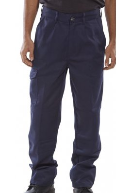 Beeswift PCT9N Click Navy Heavyweight 9oz Polycotton Work Wear Trouser