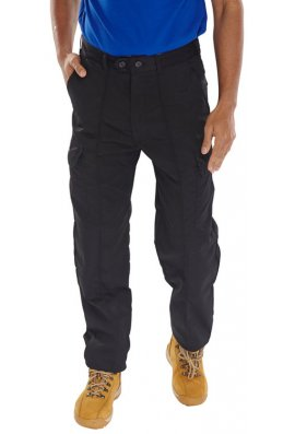 Click PCTHWBL Combat Style Workwear Trousers