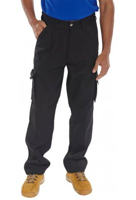 Click CTRANTBL Black Click Traders Newark Trousers