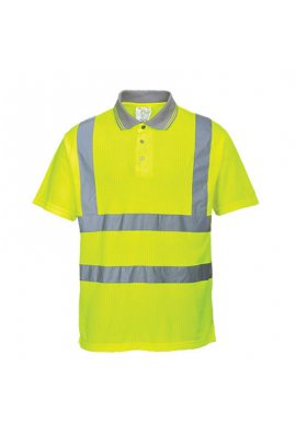 Portwest S177 Hi-Vis Yellow Comfort Polo Shirt  (Medium To 2XL)