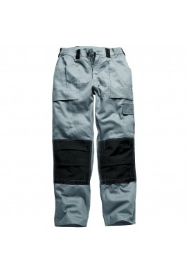 Dickies WD012 Grafted Duo Tone Trousers Grey/Black