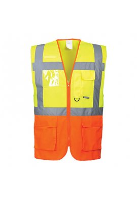 Portwest S376 Executive Hi Vis Vests (Prague) (Medium To 3XL)