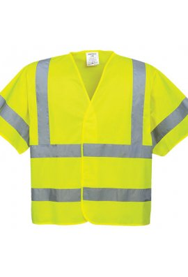 Portwest C471 Short Sleeved Hi Vis Vests (Small To 3XL)