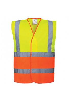 Portwest C481 Two Tone Hi Vis Vests Yellow Orange (Small To 3XL)
