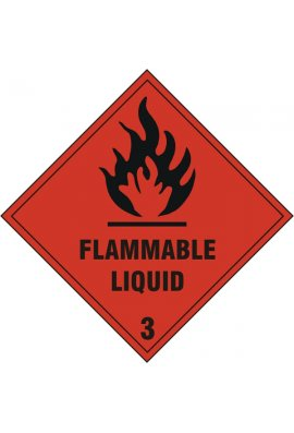 Click BSS1858S Flammable Liquid Sign Vinyle Version