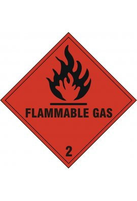 Click BSS1859S Flammable Gas Sign Vinyl Version