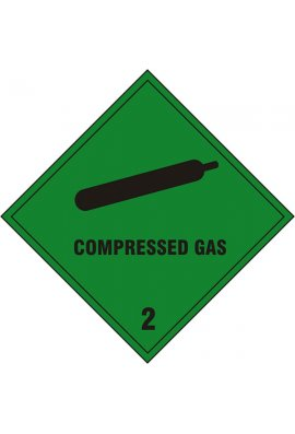 Click BSS1869S Compressed Gas Sign Vinyl Version