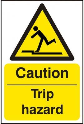 Click BSS11053 Caution Trip Hazard Sign Vinyl Version