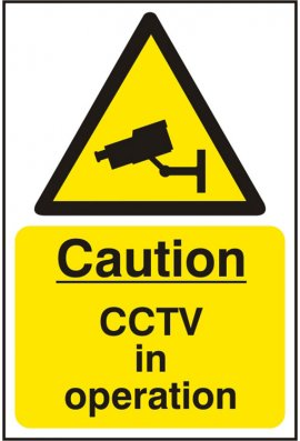 Click BSS11215 Caution CCTV In Operation Sign Vinyl Version