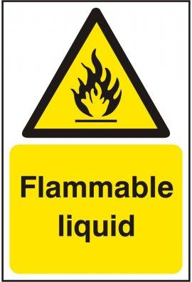 Click BSS11175 Flammable Liquid Sign Vinyl Version