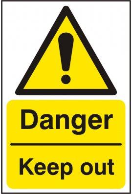 Click BSS11227 Danger Keep Out Sign Vinyl Version