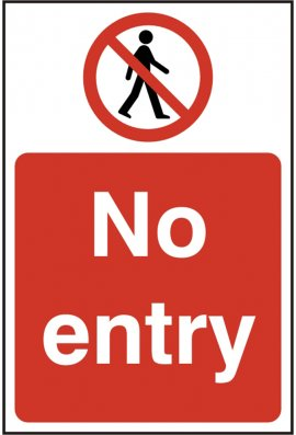 Click BSS11630 No Entry Sign Vinyl Version