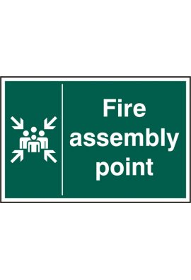 Click BSS12029 Fire Assembly Point Sign PVC Version