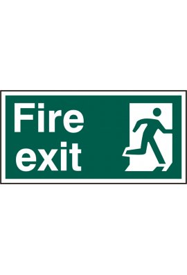 Click BSS12129 Fire Exit Sign PVC Version