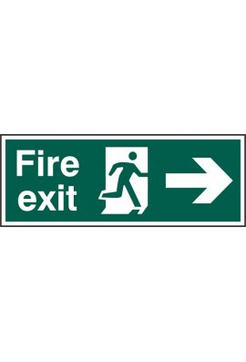 Beeswift BSS12001 Fire Exit Man Arrow Right Sign PVC Version
