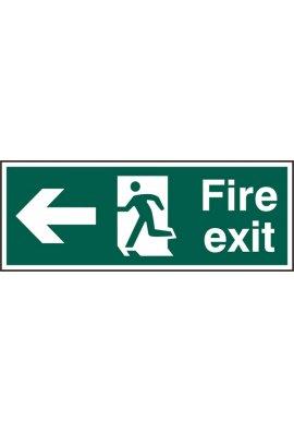 Beeswift BSS12093 Fire Exit Man Arrow Left Sign PVC Version