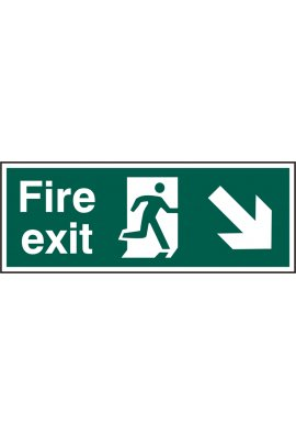 Beeswift BSS12101 Fire Exit Man Down Right Sign PVC Version
