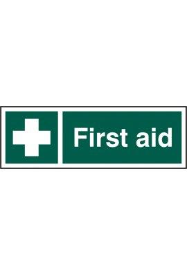 Click BSS12050 First Aid Sign Vinyl Version