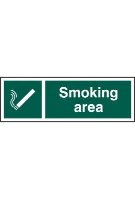 Click BSS11903 Smoking Area Sign Vinyl Version