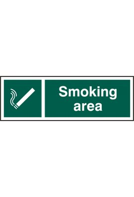 Click BSS11904 Smoking Area Sign PVC Version