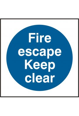 Click BSS11348 Fire Escape Keep Clear Sign Viyl Version