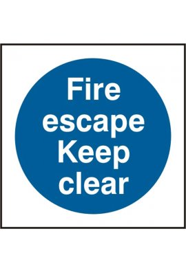 Click BSS11350 Fire Escape Keep Clear Sign Vinyl Version