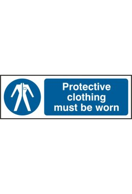 Click BSS11380 Protective Clothing Must Be Worn Sign Vinyl Version