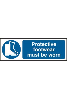 Beeswift BSS11385 Protective Footwear Must Be Worn Sign PVC Version
