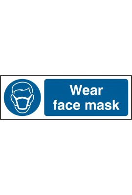 Beeswift BSS11389 Wear Face Mask Sign PVC Version