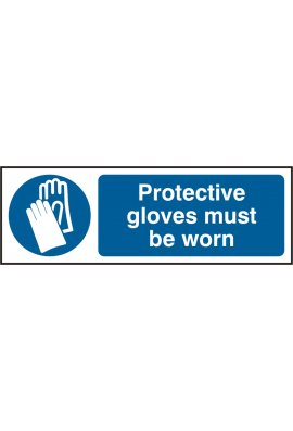 Beeswift BSS11393 Protective Gloves Must Be Worn Sign PVC Version