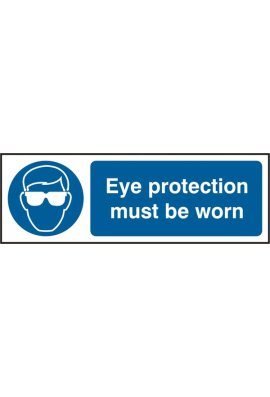 Beeswift BSS11397 Eye Protection Must Be Worn Sign PVC Version