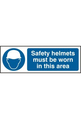 Beeswift BSS11409 Protective Helmets Must Be Worn Sign PVC Version