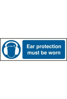 Click BSS11404 Ear Protection Must Be Worn Sign Vinyl Version