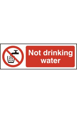 Click BSS11676 Not Drinking Water Sign Vinyl Version
