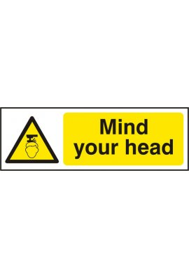 Click BSS11109 Mind Your Head Sign Vinyl Version