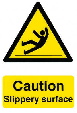 Click BSS1108 Caution Slippery Surface Sign PVC Version