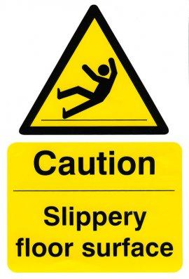 Click BSS11039 Caution Slippery Floor Surface Vinyl Version