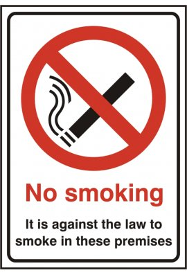 Click BSS1185 No Smoking Sign PVC Version